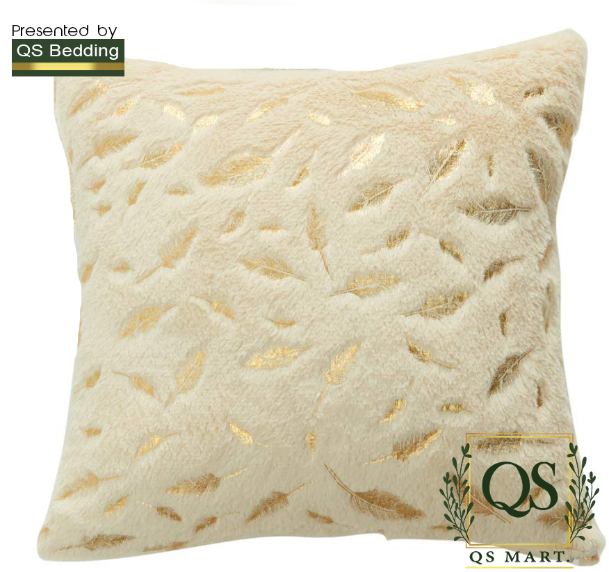 Super Soft Square Faux Throw Pillow Covers Sofa Cushion Covers Pillow Case Decorative (Chartreuse Leaves) - QS Bedding