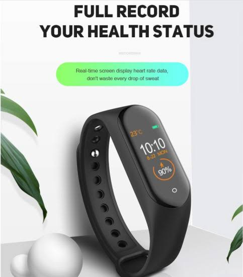 SMART M4 Sports fitness band, with GYM working software
