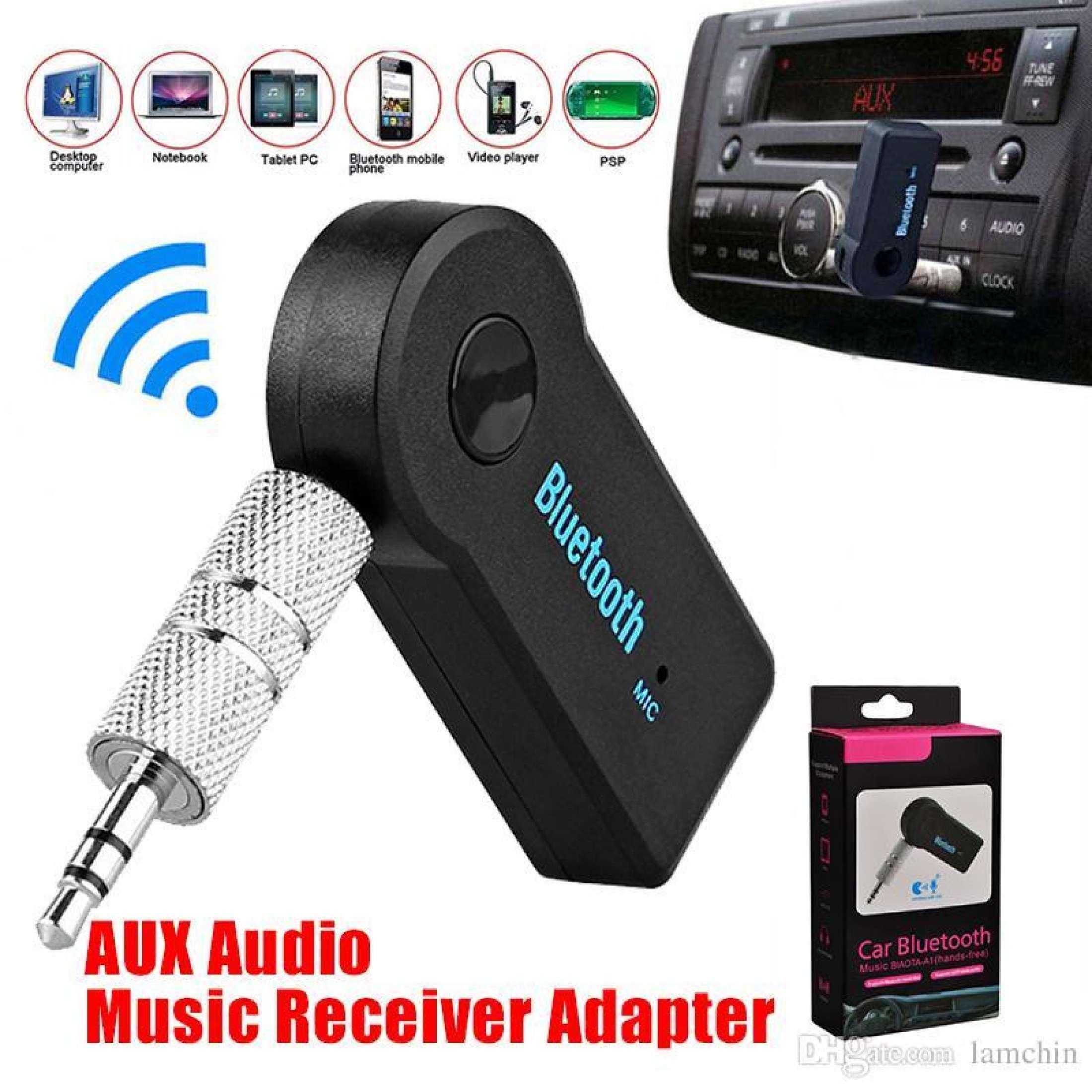 High Quality Bluetooth Audio Car Receiver - Black