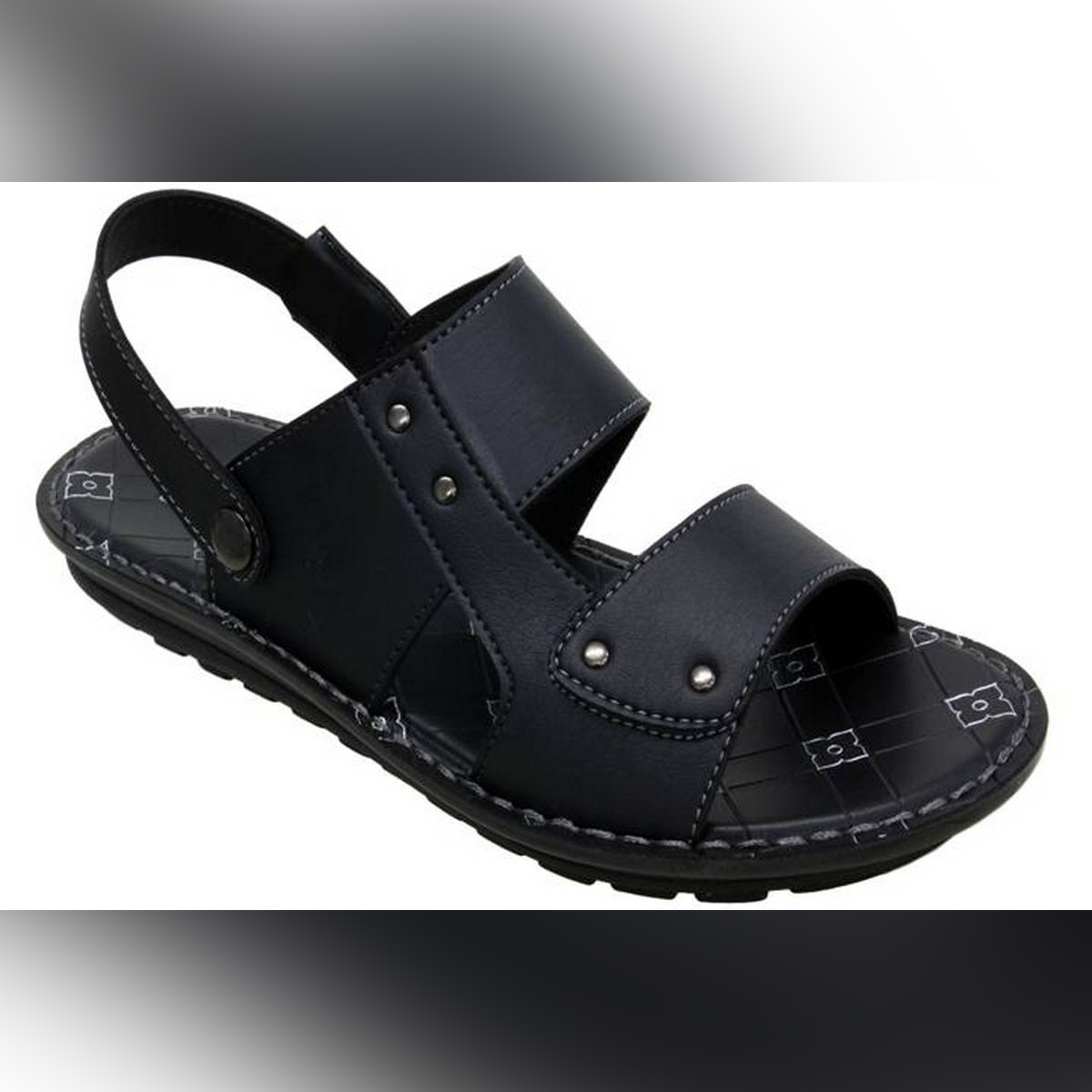 Aerosoft Synthetic Leather Slippers For Men P3906