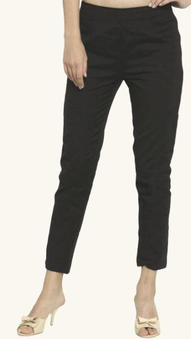 Solid Black Loose Relaxed Fit Stretchable Jeans