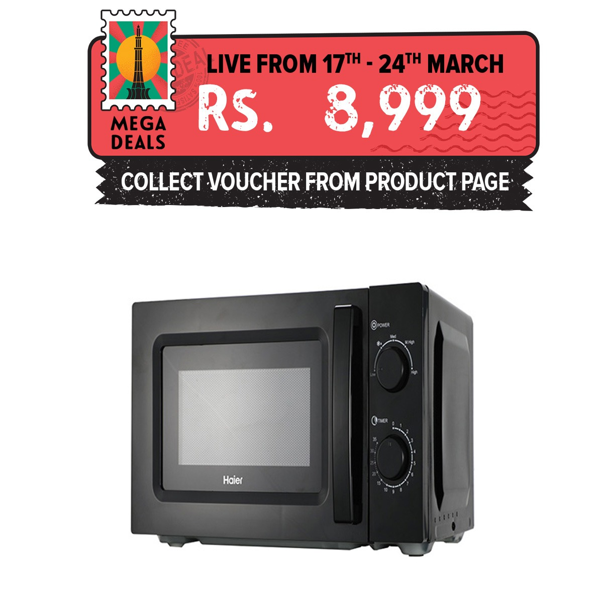 Haier 20L/Solo/HDL-20MXP4/Microwave Oven/1 Year Warranty