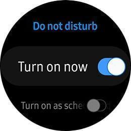 Watch face on turn on now at Do Not Disturb mode.