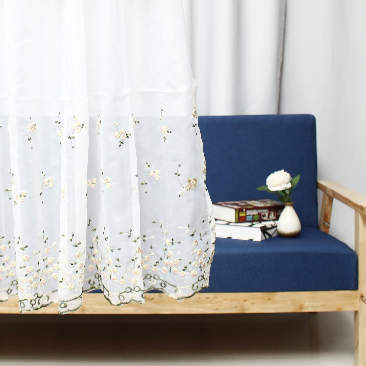 Country Style French Provincial Home Kitchen Blue Pink Rose Plaid Cafe Curtain A Little Bit Of Starrain Buy Online At Best Prices In Pakistan Daraz Pk