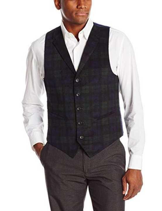 Black Watch Tartans Waistcoats & Vests