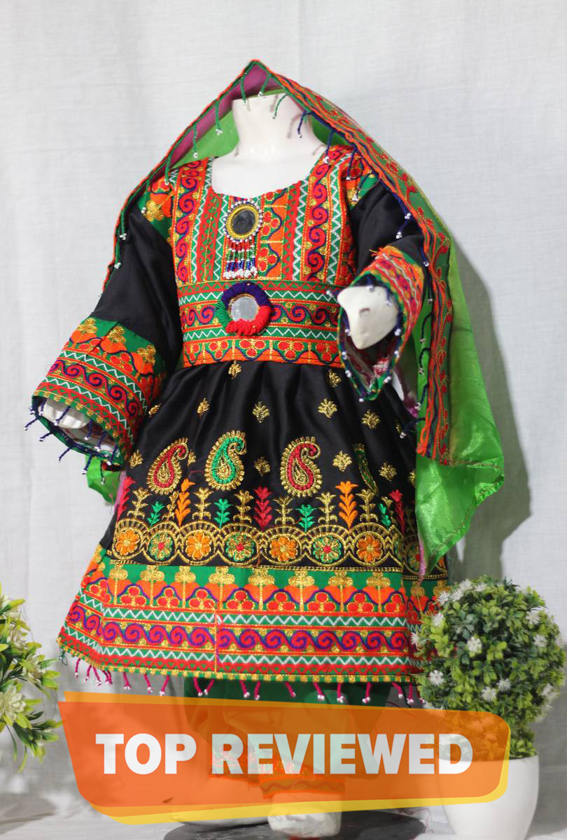 Traditional Afghani frock for kids