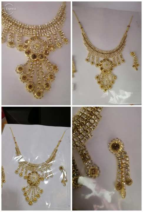 Gold palated 1carat antique set