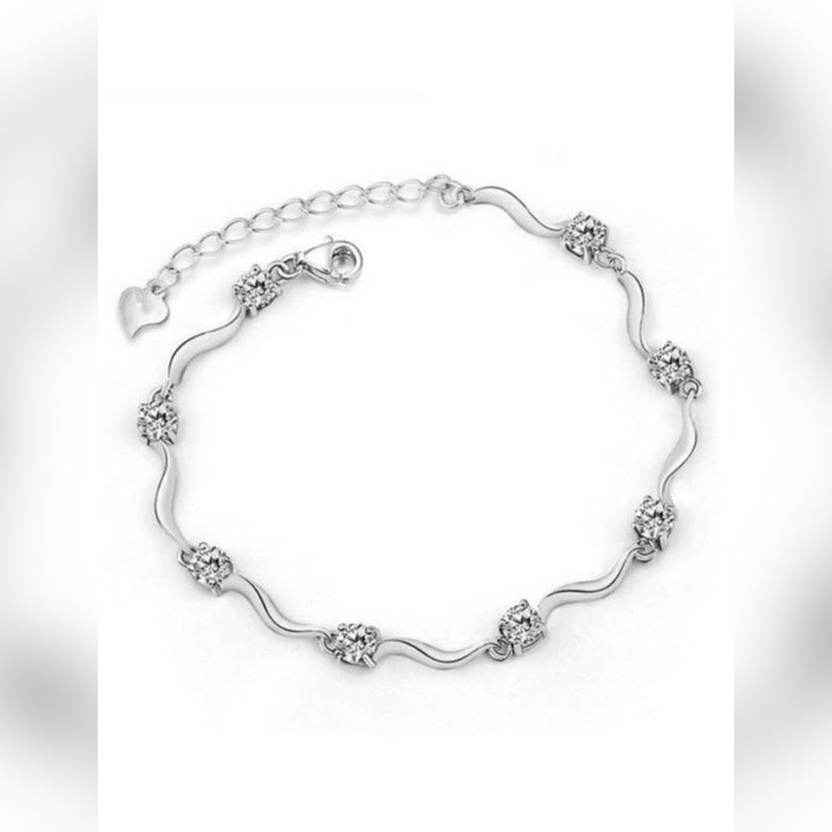 Stylish Luxury Personality Accessories Women Charm Pearl Bangle Bracelet