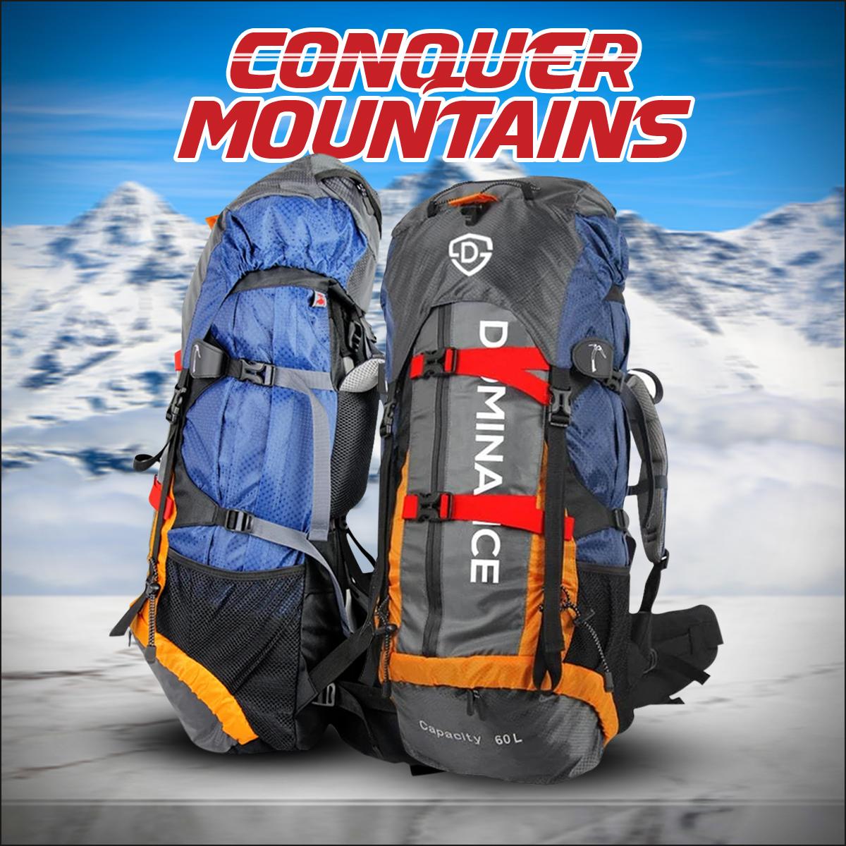 Men Travel Backpack 60 Liter Camping Backpack for Outdoor Hiking