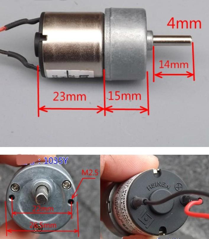 Dc Gear Motor High Torque 12V 57 Rpm 70:1 Ratio