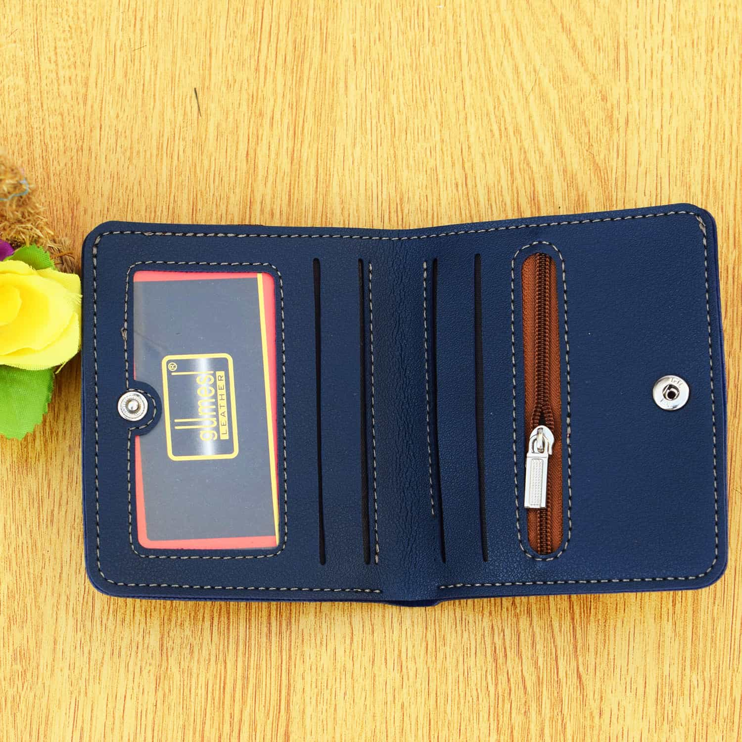 Small Pcket Size PU Leather Wallet for Men