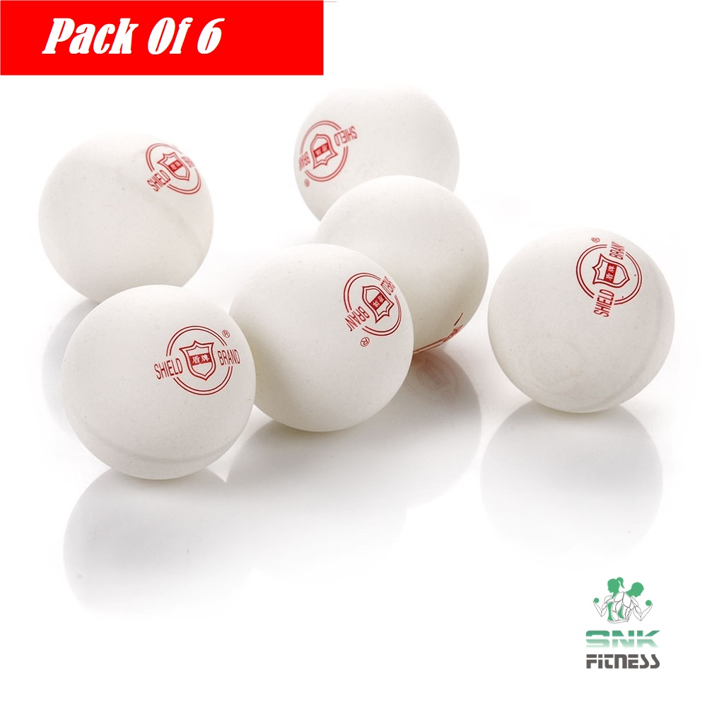 Pack of 6 -Shield  101 Table Tennis Ball - 40mm