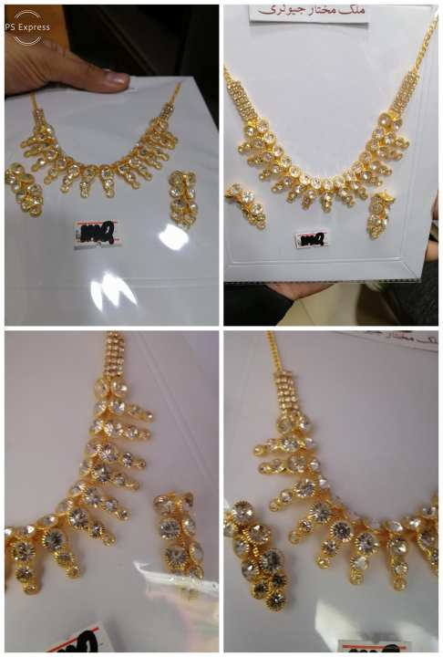 Antique gold palated 1carat set pure andian