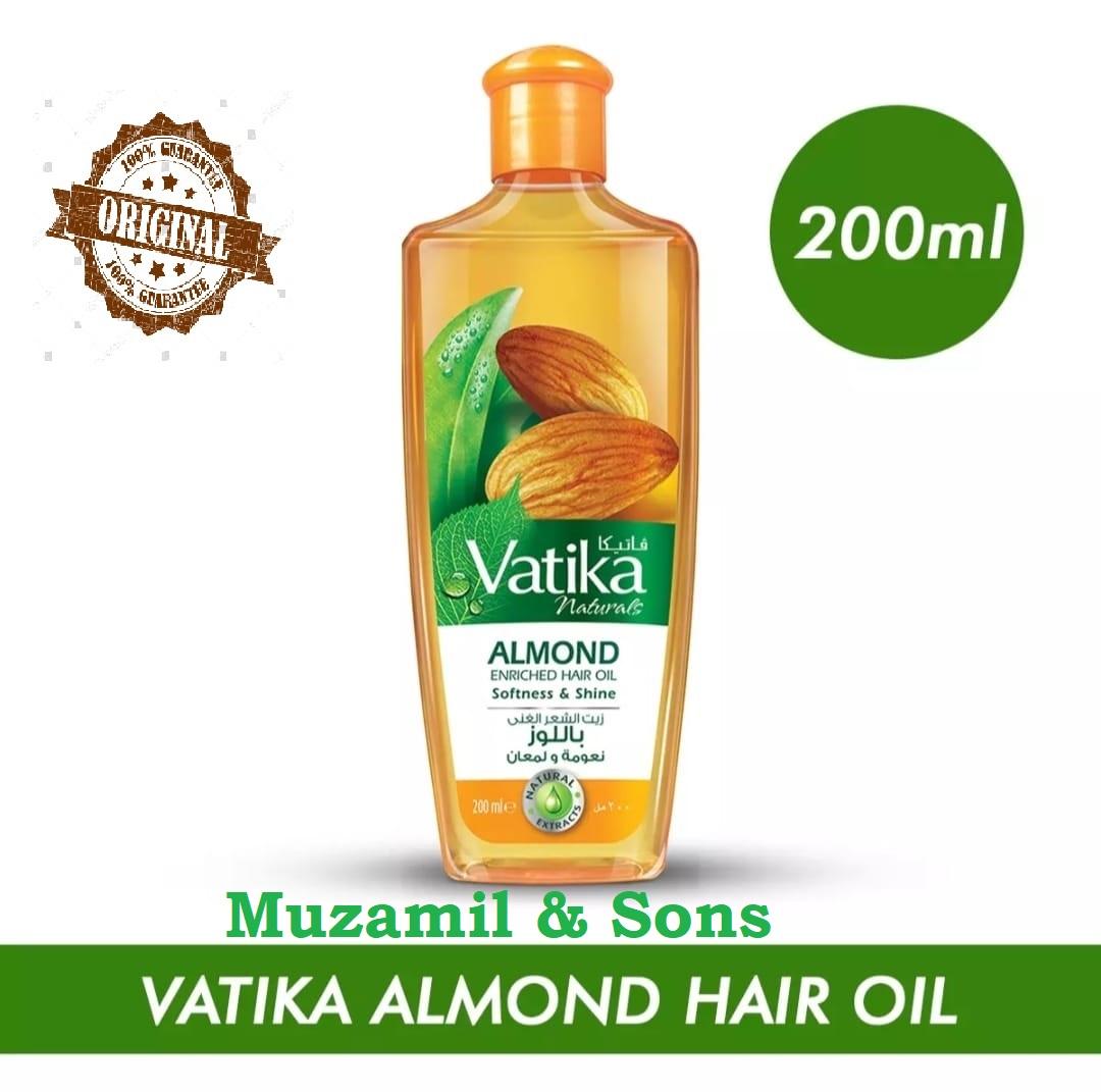 Vatika Almond Enriched Hair Oil Softness & Shine - 200Ml