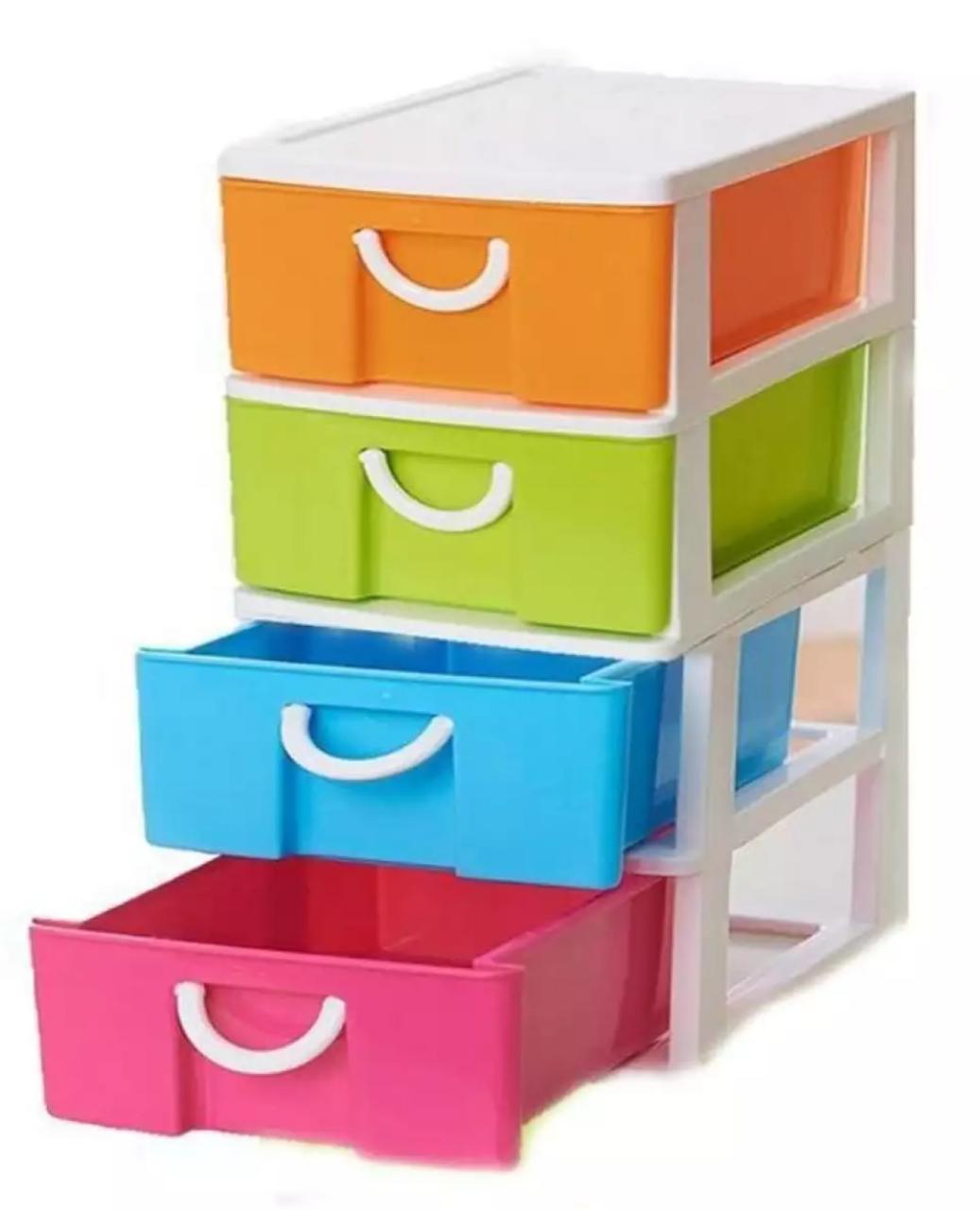 4 Tier Cosmetics Items Storage Organizer - Colorful