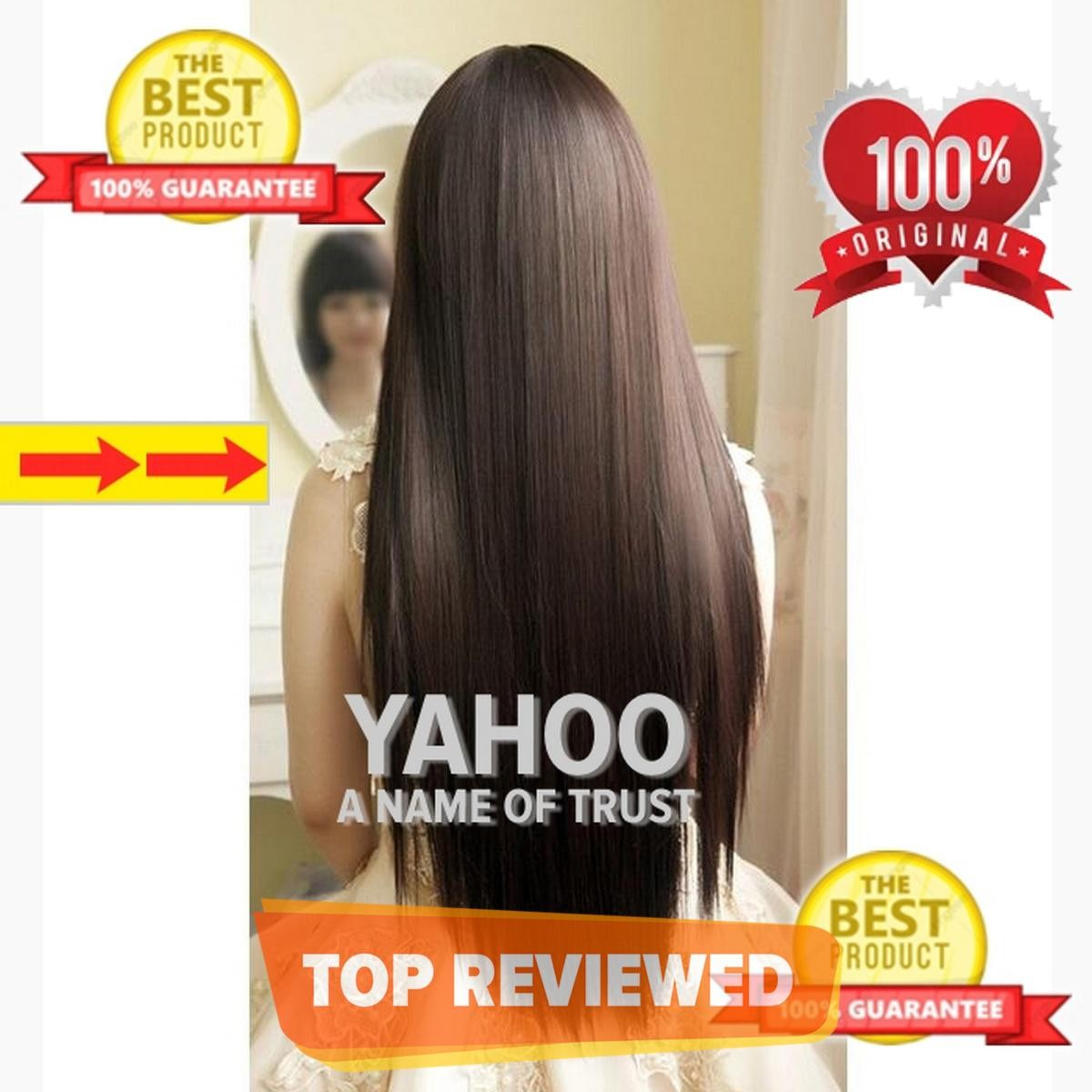 Brown Hair Extension Natural Brown 5 Clips In Full Volume 30 Long Straight Hair Extension - Natural Color - Perfect Match For All Hair Types