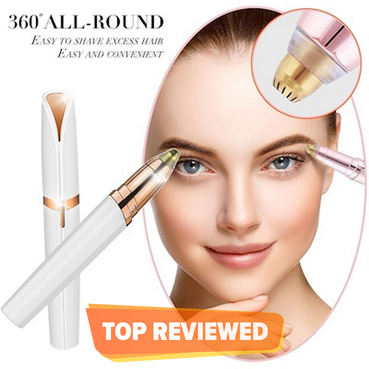 Chargeable Flawless Eyebrow Hair Remover Eyebrow Trimmer Pen Electric Shaver For Women With USB cable