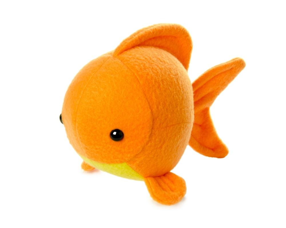 Orange Fish Stuffed Animals Plush Toy Animals Cushion (Orange)