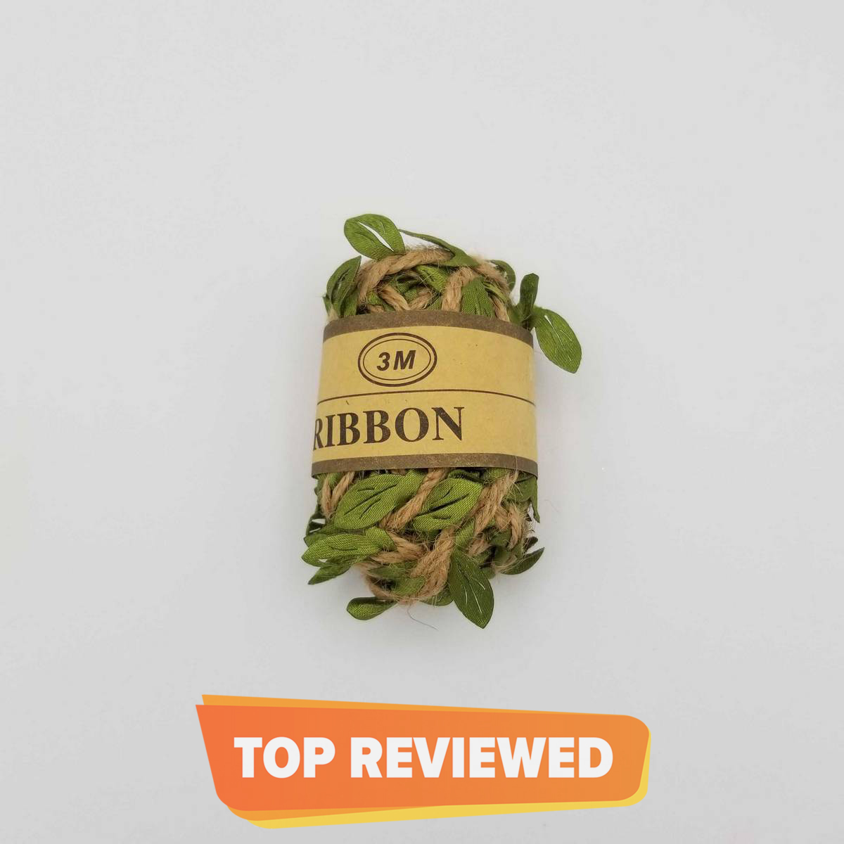 JUTE RIBBON WITH ARTIFICIAL LEAVES BAIL