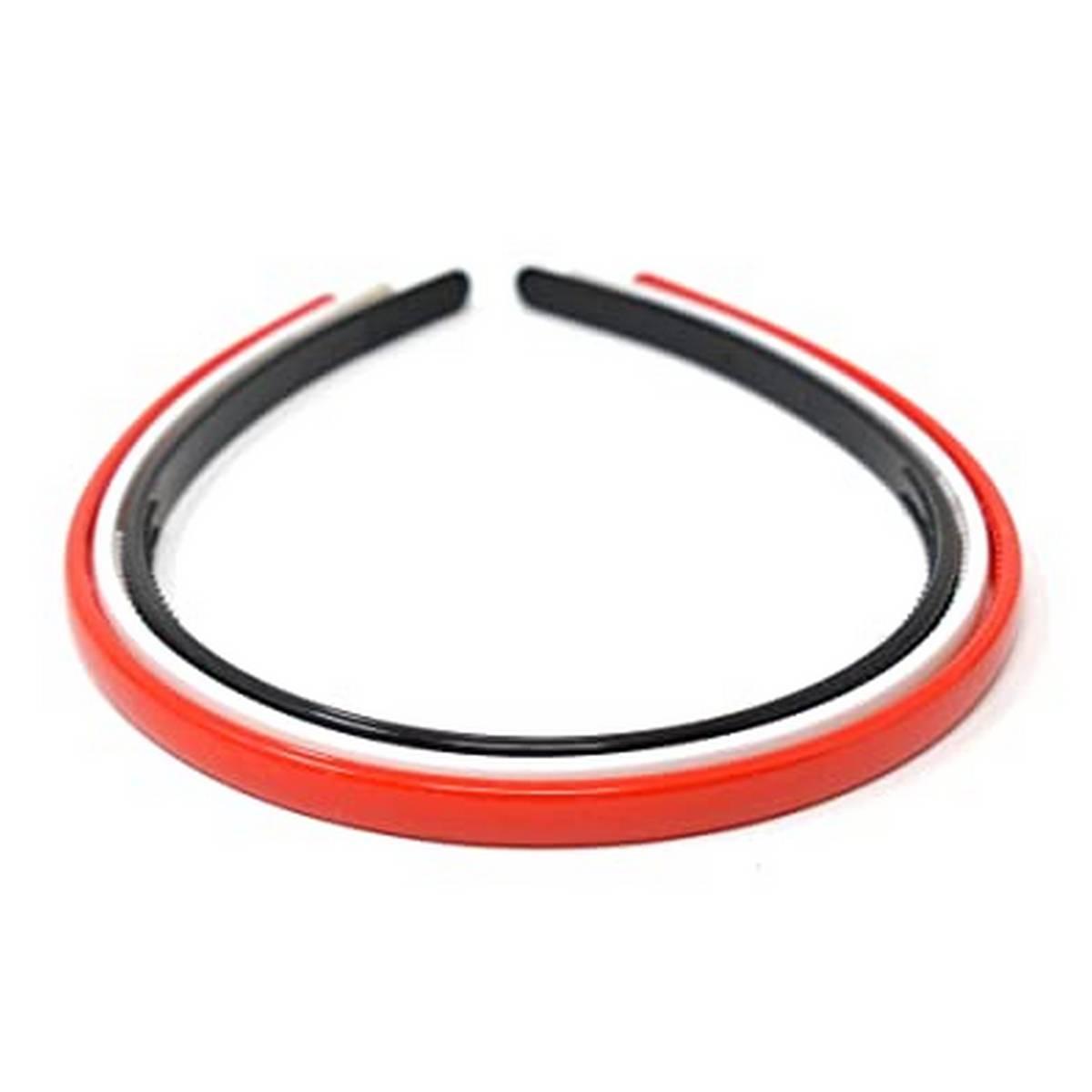 Pack of 3 Red, White, and Black Hairband/Headband for Teen/Kids/Girls - Hair Organizer