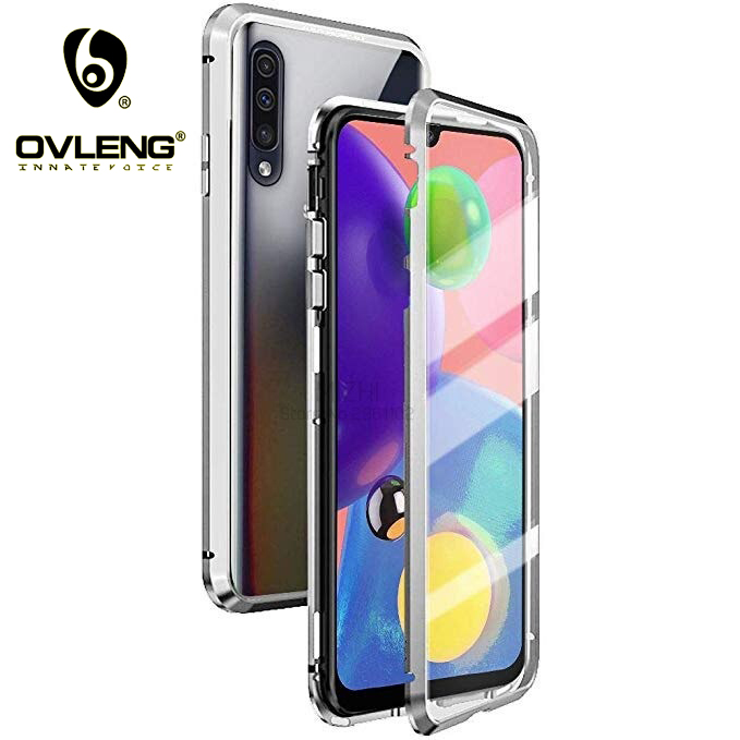360 Magnetic Adsorption Metal Case For All Samsung Mobiles Covers A9 A10 A10S A30 A51 A70 A70S A50S A50 S10Lite Note10 S7Plus S7 S8 S9 S10 Note8 Note9 S9Plus S10Plus