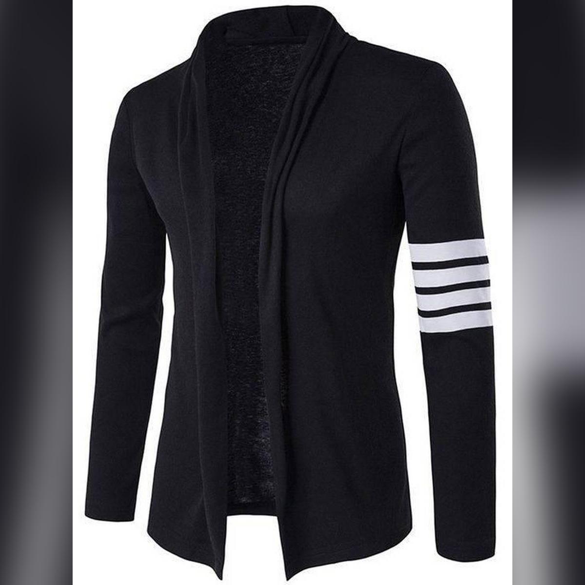 Oxygen Clothing Cardigan Black Zebra Sleeves