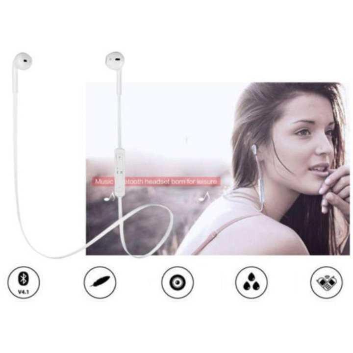 Wireless Earbuds Stereo Upgraded S6 Wireless Bluetooth Handfree,Sweatproof Sports earphone for IPhone/IPad/ Samsung Redmi Xiaomi Gionee Motorola Lenovo Oppo Vivo HTC Meizu Nokia LG Sony & all Android Mobiles