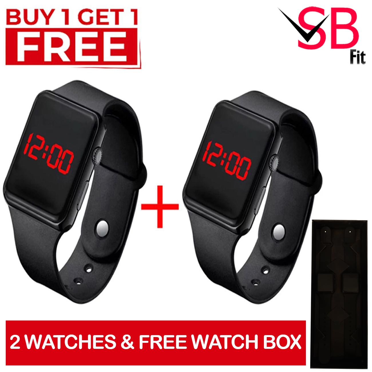 Pack of 2 Watches | Waterproof Digital Led Watch For Mens / Boys & Girls | Digital Sports Watch For Men & Women.