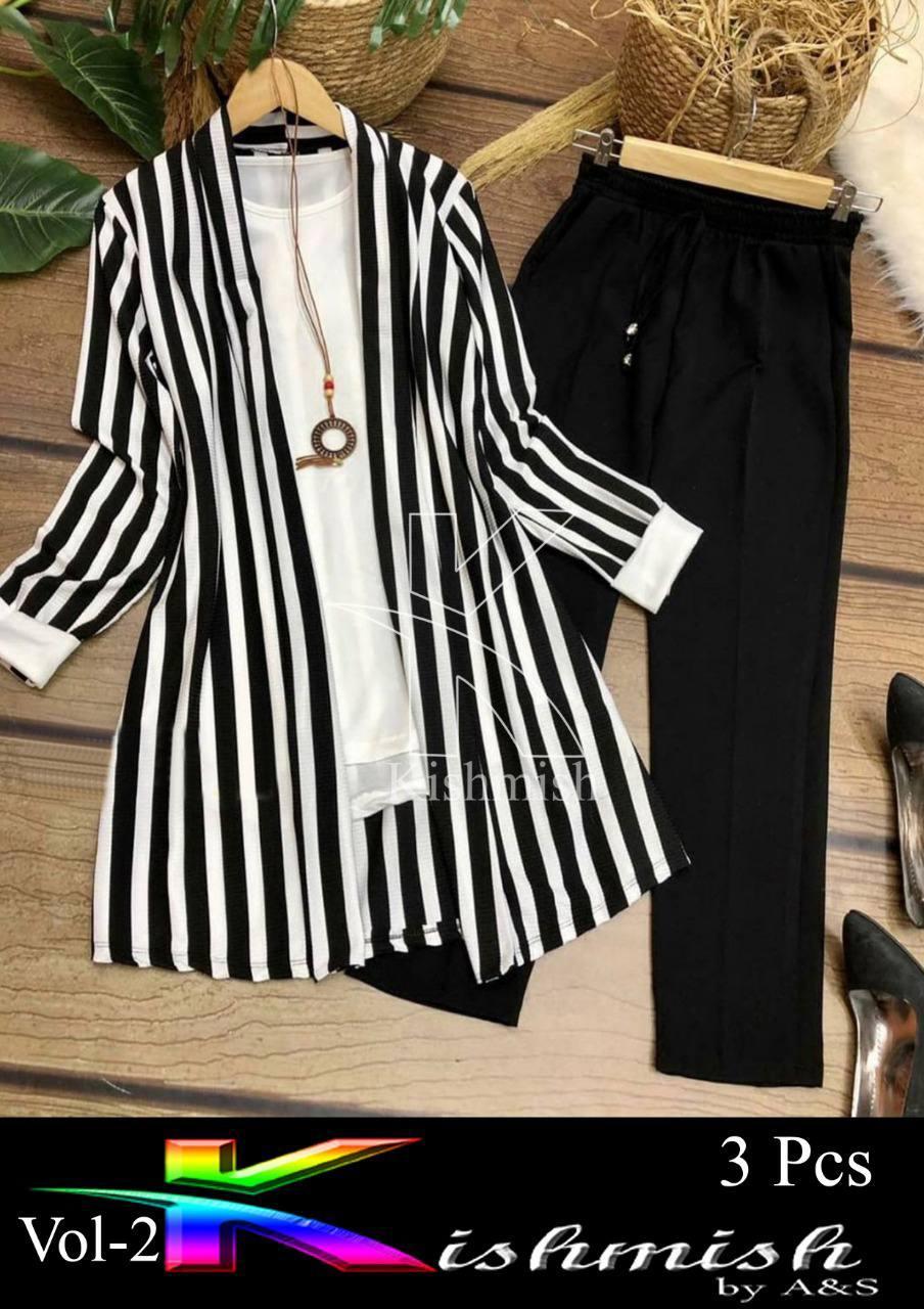 Fashion cutz Stitched   ( 3 pcs )  Zabra Dress For Girls & women