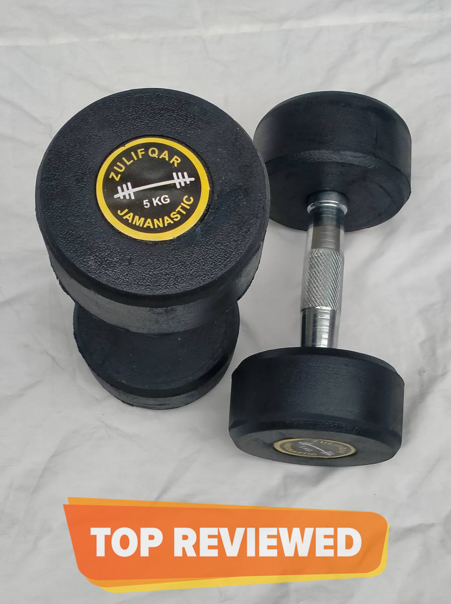 Pair of 1kg 2kg 3kg 4kg 5kg 6kg 8kg 10kg  12kg 14kg 16kg Rubber Coated Dumbbell Fitness Home Gym Home Exercise Dumbell