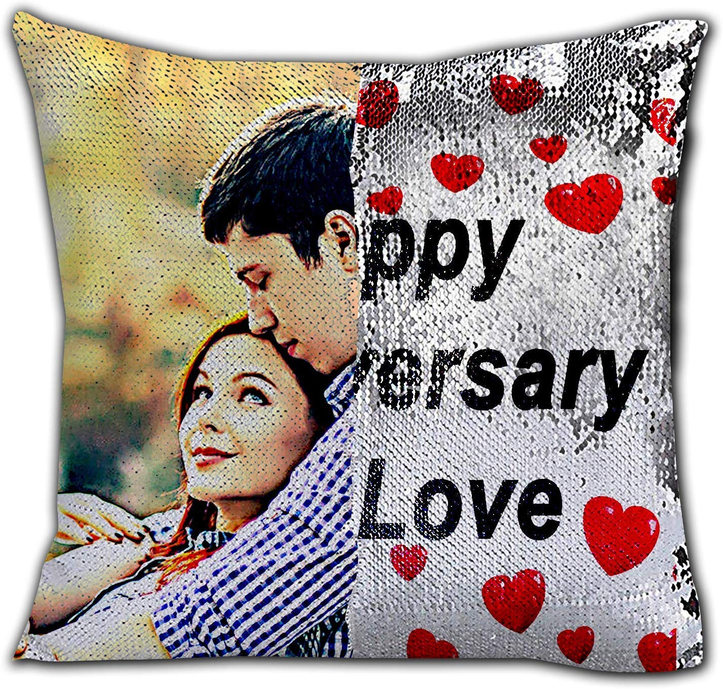Customized Double Side Magic Cushion with Filling and Customised Gifts Cushion Covers (Full size Cushion Printing)