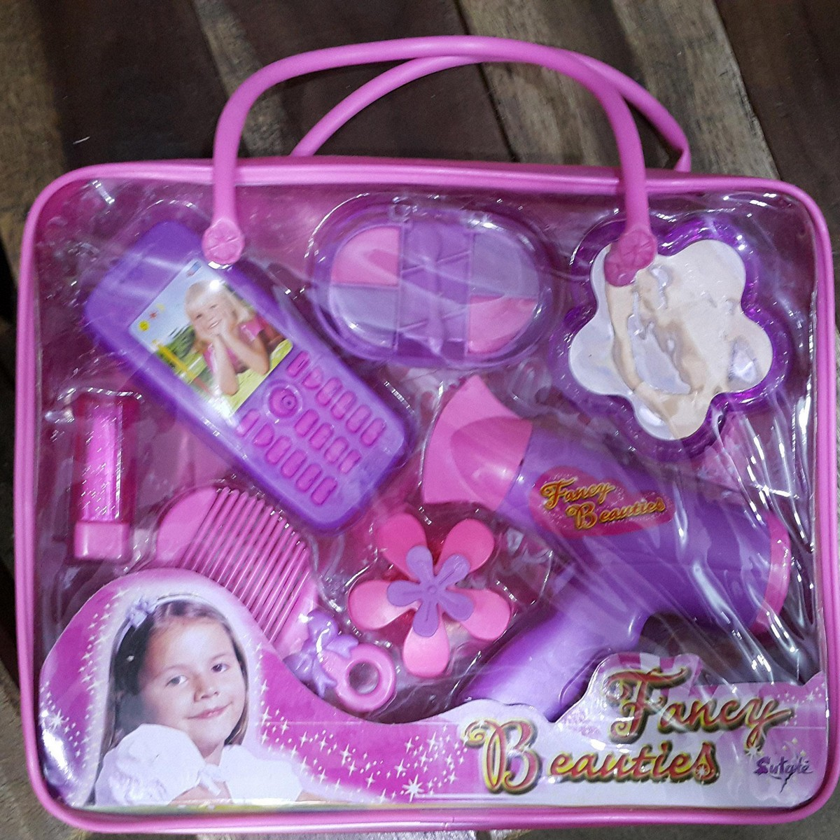 Girls Beauty/Make Up Kit Toys with Portable Bag Girls/Baby/Kids Toys, Girls Beauty Toys, Beauty Kit with Bag Make Up Kit Kids Toys Multi in 1 - KBKB