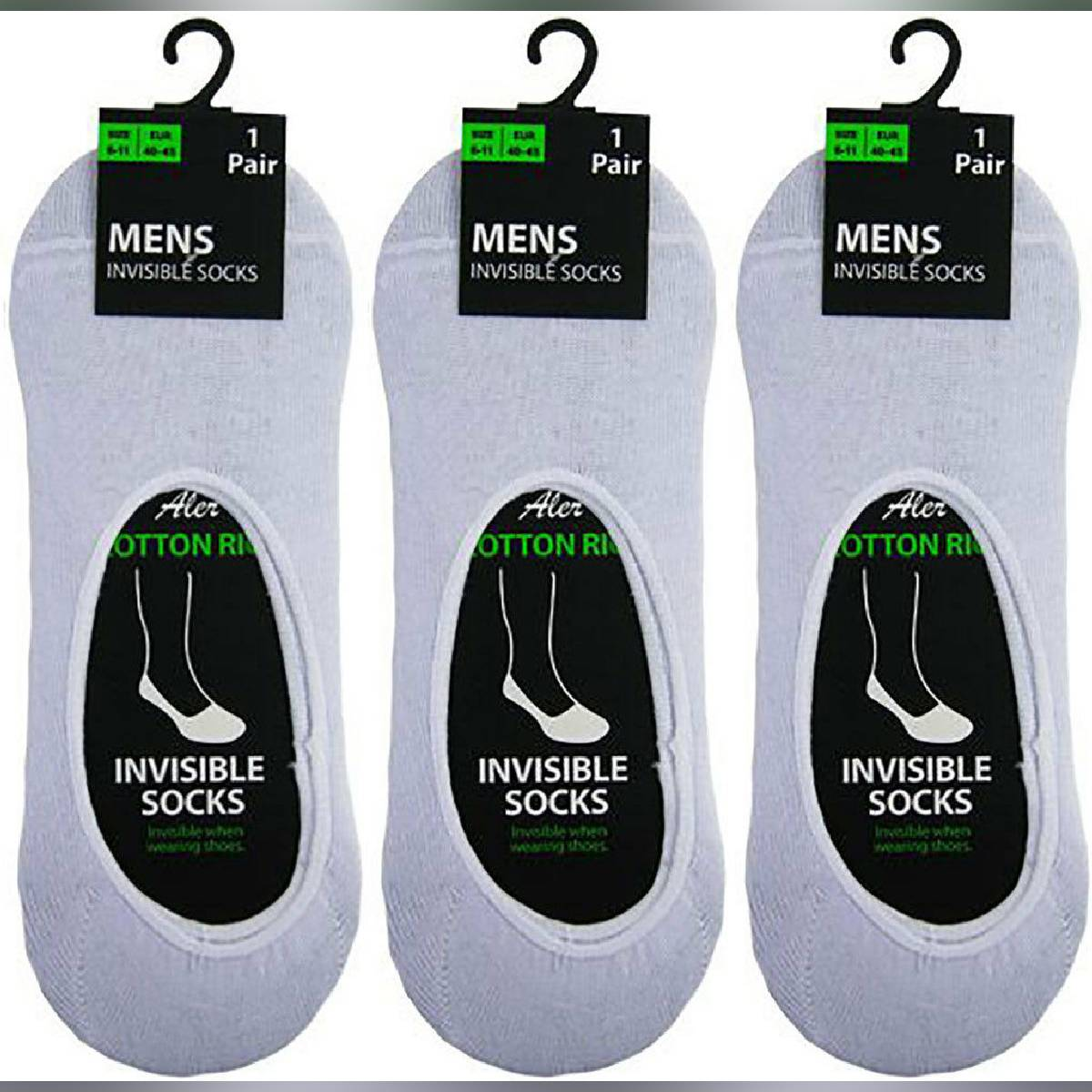 3 Pairs Ladies/ Men  Invisible Trainer Liner Socks No Show Secret Footsies Adults