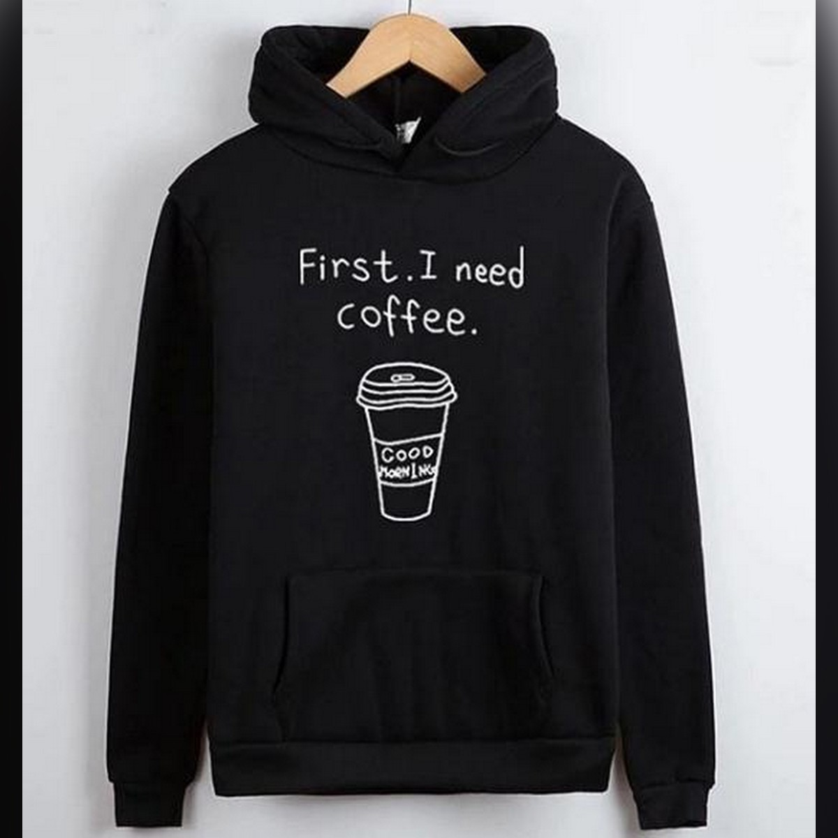 Black Fleece I Need Coffee Hoodie Style Hoodie For Women