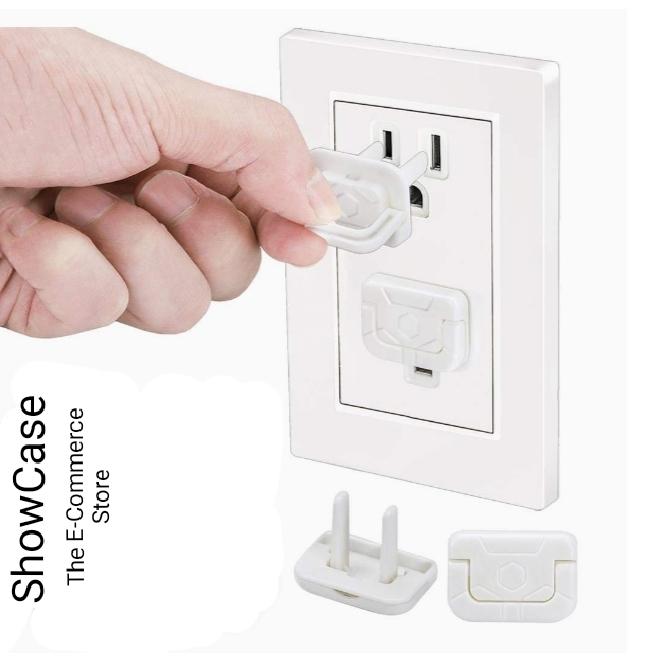 ShowCase Pack of 6 Socket Cover Power Socket Outlet Plug Kids Electric Safety Plug Child Safety Socket Protector Baby Electrical Safety Plug