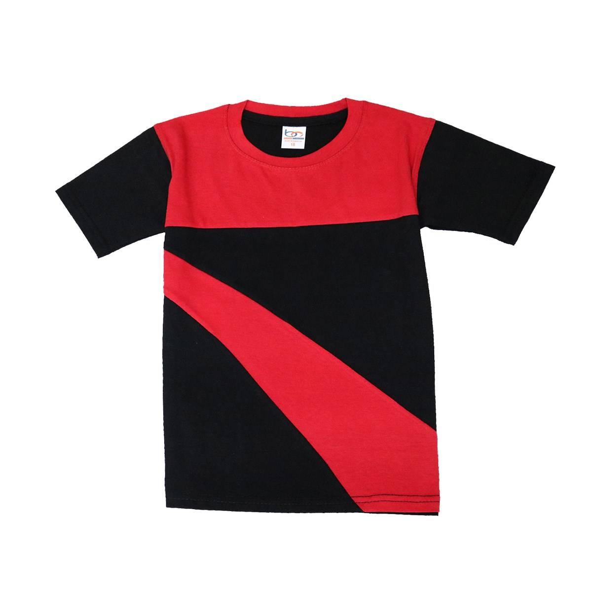 Bindas Collection Summer Stylish Contrast Panel design T-shirt For Kids