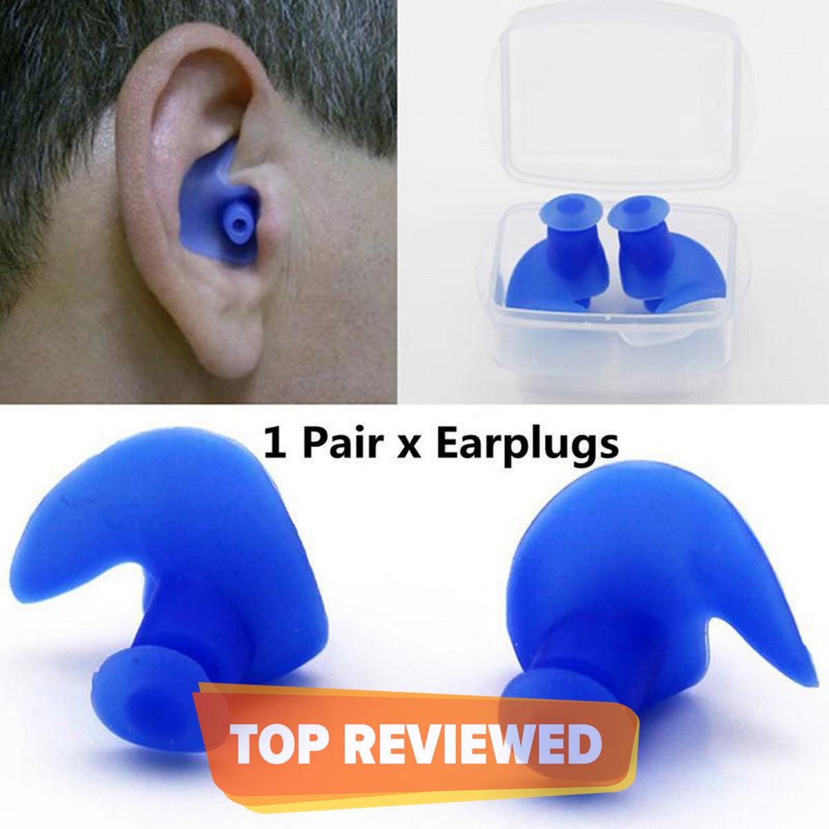 Soft Comfortable Silicone Bathing Swimming Ear Plugs(Multi)