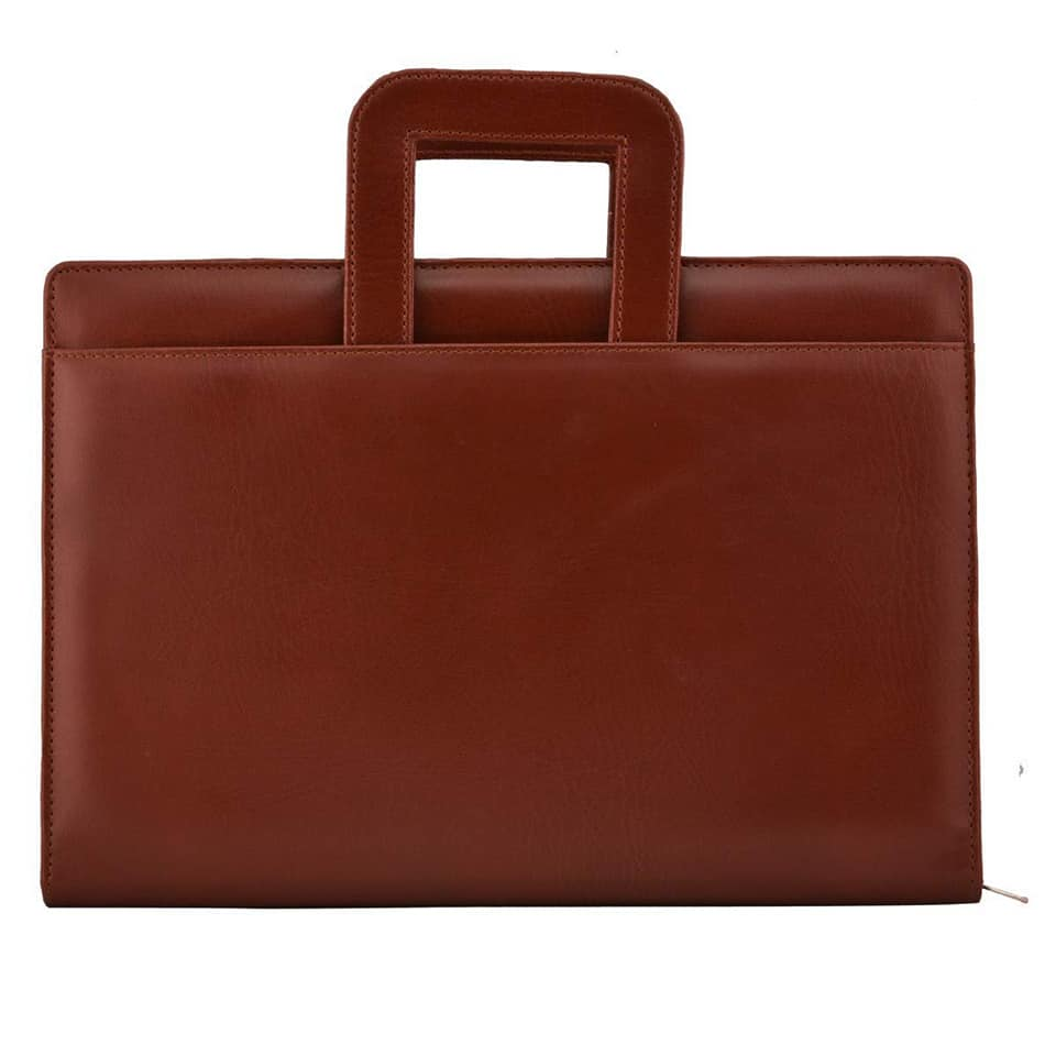 Hot sale top quality low price school business and mobile tab cover supplies bali leather portfolio conference folder