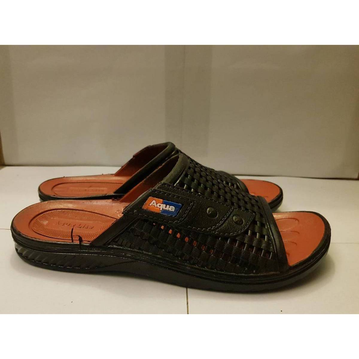 Rubber Sandals/Slippers Shoes - Waterproof - Soft And Comfortable - Black Color -A013