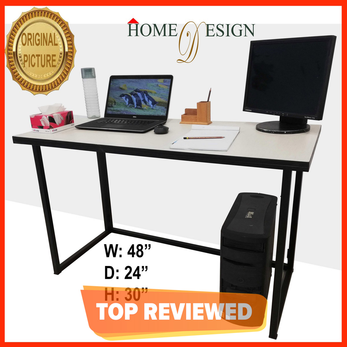 Portable Folding Computer Laptop Study Table with Metal Frame and High Quality Waterproof Laminated MDF Sheet