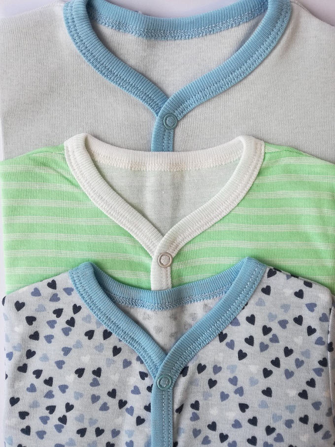 Newborn Baby Kid Romper Body Suits Set - Pack of 3 - Multi Color And Size