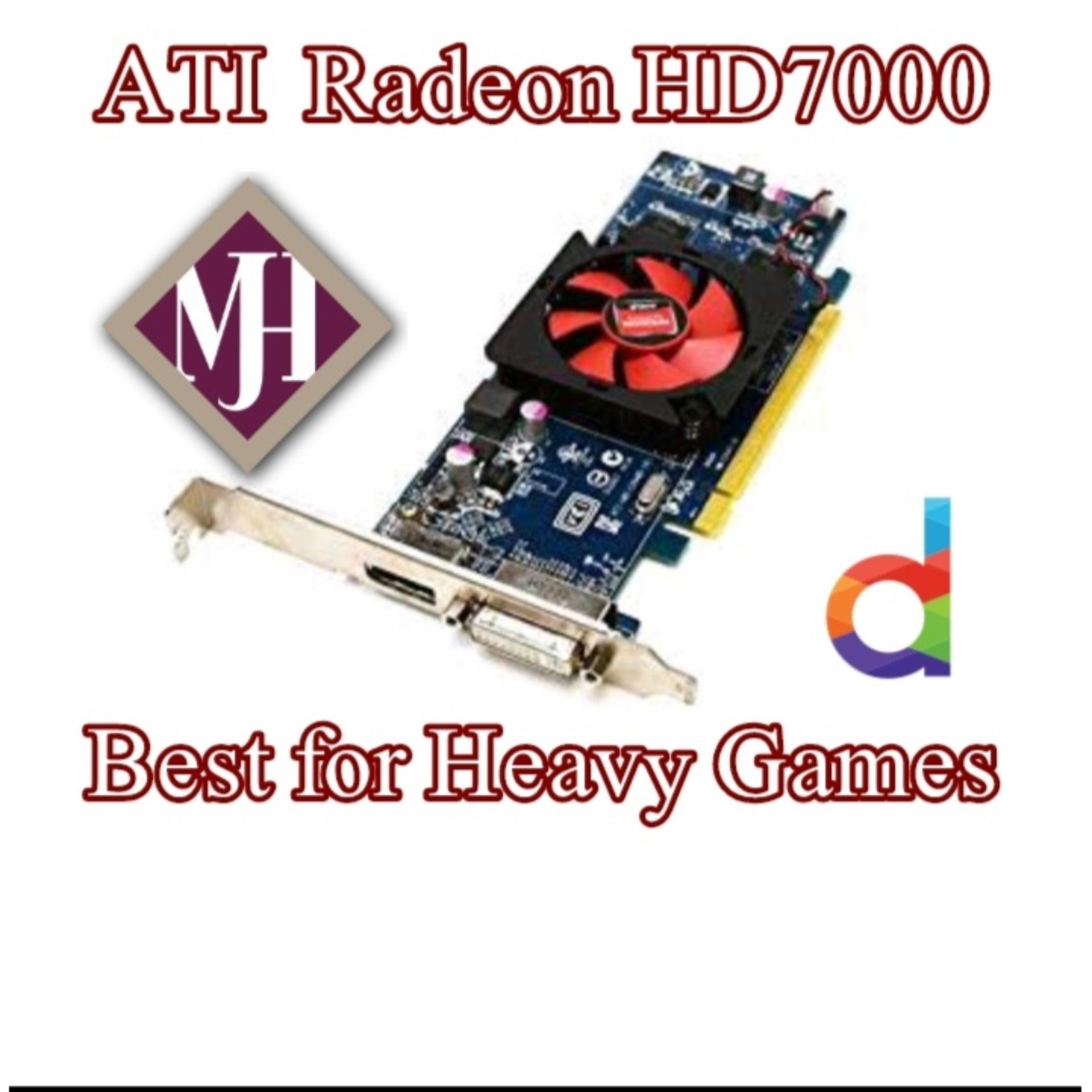 ATI Radeon HD 7000 Graphics Card 1 GB DDR3 64 Bit for PC (For All Heavy  Games) with free DVI to VGA Converter