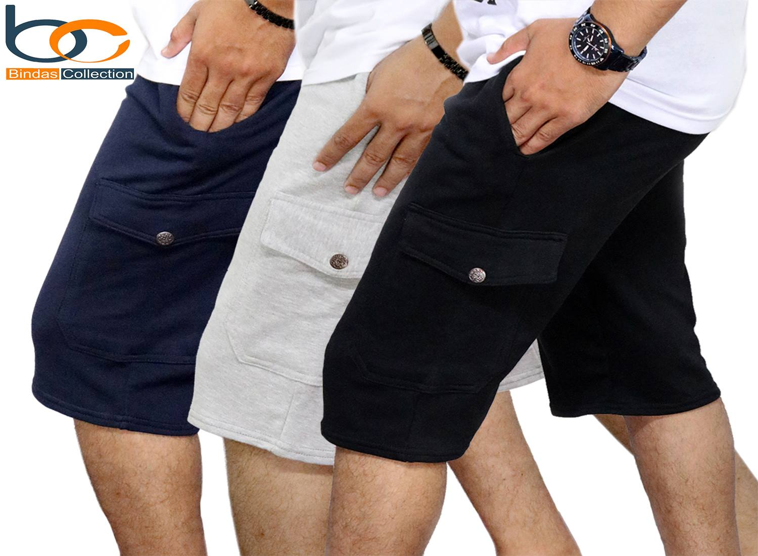 Bindas Collection Pack Of 3 Summer Cargo Style Short For Men