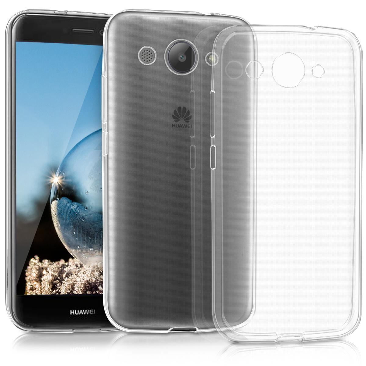 Huawei Y3 2017 Transparent Jelly Soft Back Cover 1mm Thickness
