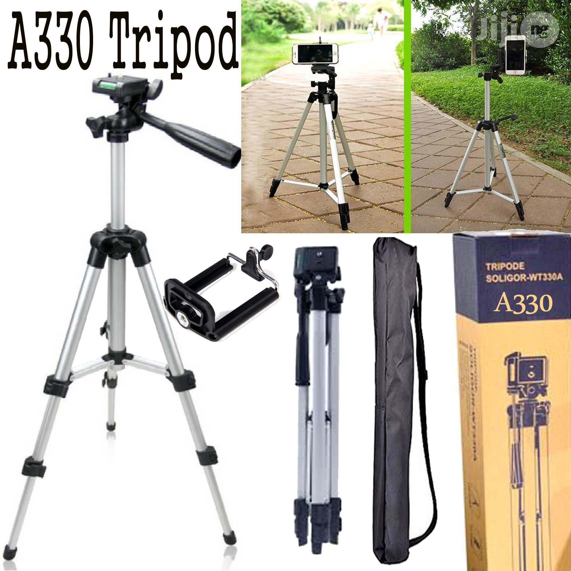 330 Big Tripod 5 Feet Mobile Stand For Mobile and Digital Camera Video Capturing