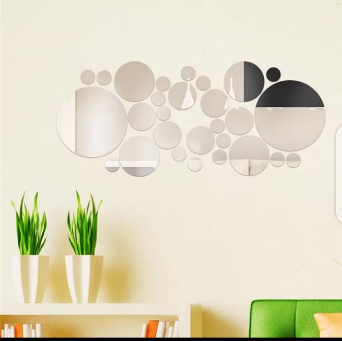 Mirror Wall Sticker Removable Round, Decorative Wall Mirror Stickers
