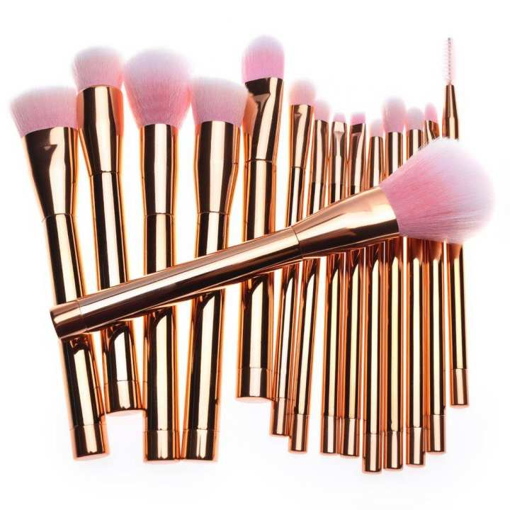 15pcs Makeup Brushes Graduated Color Diamond Handle Foundation Powder Brush