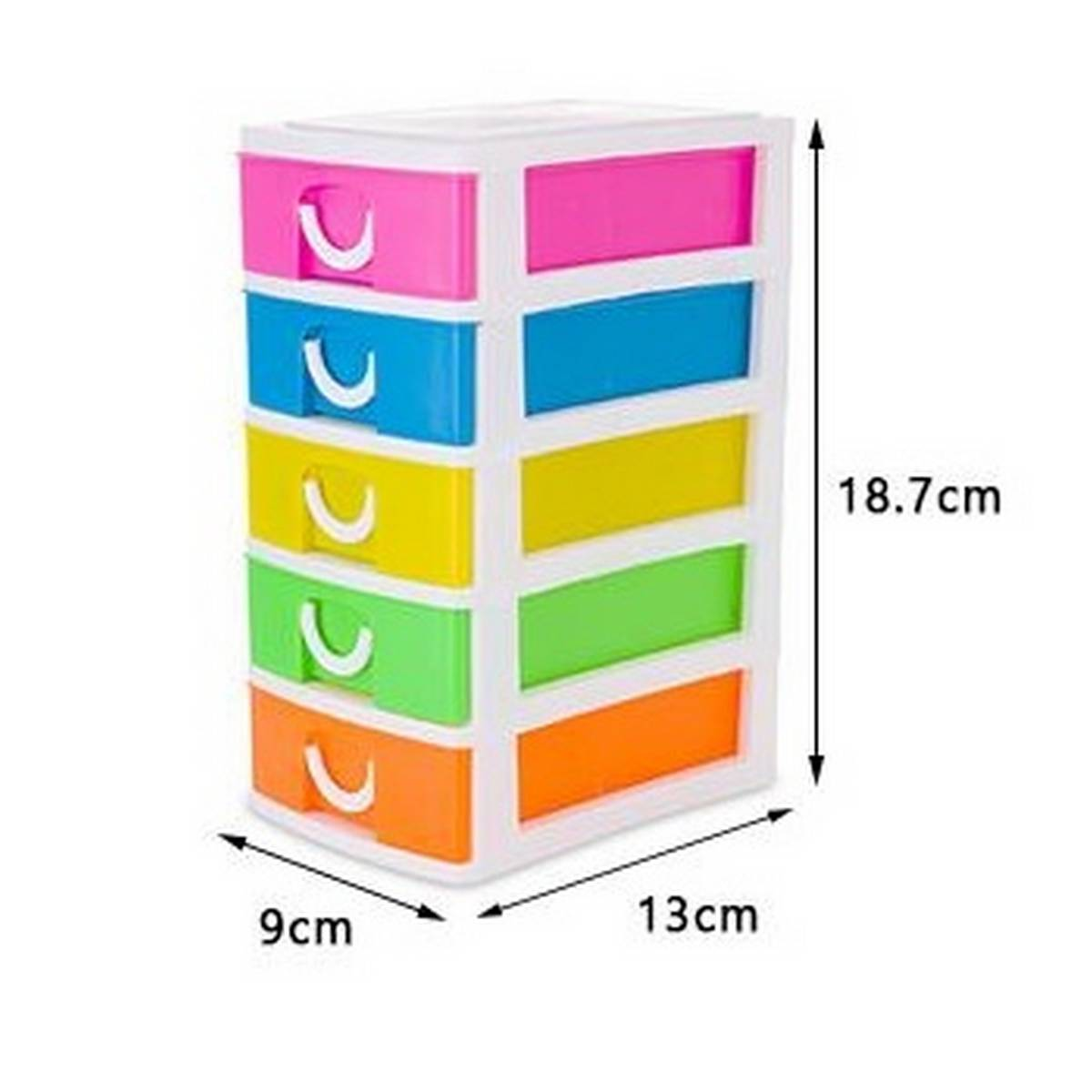 New 5 Multi Color Mini Desktop Small Drawers Box For Store Makeup Jewelry