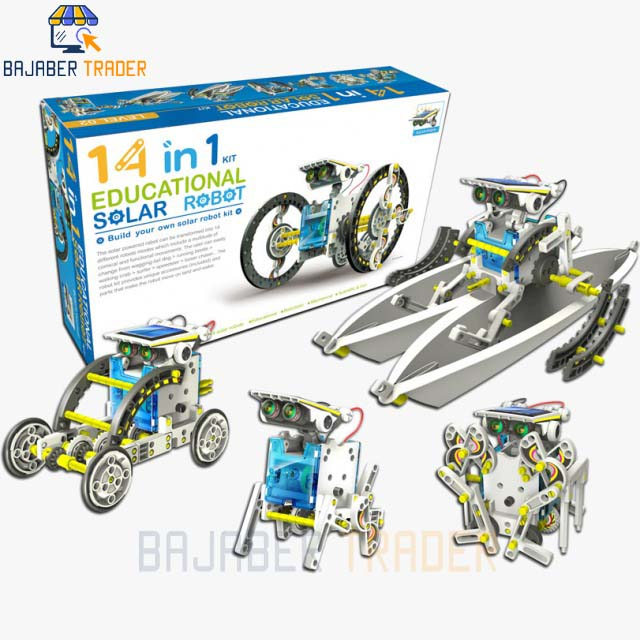 14 IN 1 Solar Robot Educational Kit  Build Your Own Robot Kit  Powered by the Sun