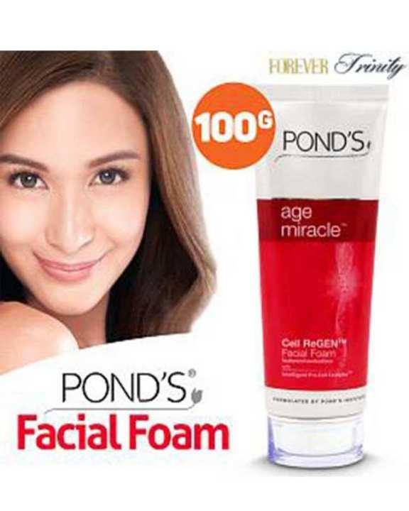 Original PONDS Age Miracle Cell Regenerating Facial Foam,100-g